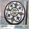 Mármol Waterjet del medallón del azulejo de mármol blanco para el suelo y la pared