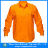 Chemise orange de douille de travail de sûreté de chemises de nouveau modèle longue