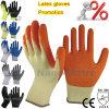 Werkende Handschoenen van de Hand van het Latex van Nmsafety de Oranje Palm Met een laag bedekte