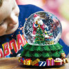 Glass cristalino Ball Music Box para Christmas Decoration
