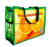 Long sac à provisions tissé par pp multicolore pliable d'épaule de traitement avec le logo