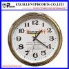 Часы стены рамки изготовленный на заказ печатание логоса круглые пластичные серебряные (Item23)