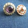Tasto di cristallo del Rhinestone dell'oro per i jeans delle donne