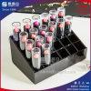 Organisateur acrylique de luxe noir de rouge à lievres
