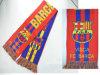 Оптовые дешевые сувениры связали шарф вентилятора типа футбола футбольной команды жаккарда