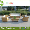 現代屋外の藤の家具の庭の柳細工のソファー(CF868)