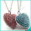 Cloth Decoration (FN16041805)のための大きいCrystal Heart Necklace