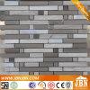バルコニーおよび庭Wall Grey Line Stone Mosaic (M855111)