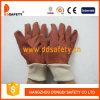 Перчатки сада PVC с белым запястьем руки Knit (DGP110)