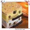 Коробка хранения ювелирных изделий Tinplate формы чемодана ретро