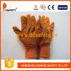 Ddsafety 2017 померанцовых перчаток Woking холстины, многоточия PVC