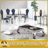 Tabela superior de mármore dobrada mobília de jantar moderna dos pés