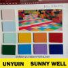 Plancher pur plein de vinyle de couleur de vente directe d'usine