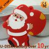 Movimentação quente do flash do USB de Papai Noel do Natal do presente da promoção