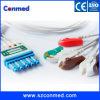 Cable fijado Leadwires compatibles para Philips, cable de los plomos ECG de M1968A 5 del monitor paciente ECG