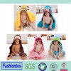 卸売幼児フード付きタオル動物は子供の習慣毛布の一面をおおう
