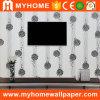 Papel pintado decorativo casero de la tela del brillo de la sala de estar