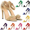 Sandalias atractivas del zapato de las mujeres del ante del Faux