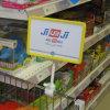 Placa plástica do sinal do preço da promoção do supermercado com grampo