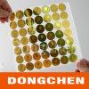 Coder l'autocollant adoré d'hologramme de nid d'abeilles d'or