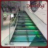 Cristal Acero escalera recta (DMS-9003)