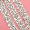 ウェディングドレスのための卸し売り花嫁のBling Bling装飾的なCrytalのラインストーンのトリム