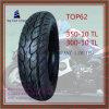 Schlauchlose, lange Lebensdauer, Reifen 350-10tl, 300-10tl des ISO-Nylonmotorrad-6pr
