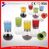 Dispositifs trembleurs de sel et de poivre avec le stand assorti/rectifieuses en plastique de sel et de poivre de couvercle