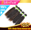 인간적인 Hair Weave 7A Natural 브라질 Kinky Curly Virgin Remy Extension Lbh 025