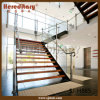 内部のStainless SteelおよびGlass Railing Straight Staircase (SJ-H865)