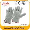 Серый натуральной кожи Сплит Промышленная безопасность водителя Рабочие перчатки (112011)