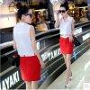 中国製ポリエステル100%ヒーブシフォン女性シャツ