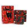 Haltbare umweltfreundliche einwickelnbeutel-Firmenzeichen gedruckte Packpapier-Einkaufstasche