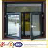 Окно безопасности двойное стеклянное алюминиевое/алюминиевое окно