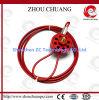 Segurança Wheel Type Cable Lockout com 8PCS Padlocks (1.5m)