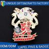 Brooch значка логоса печатание металла нестандартной конструкции