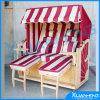 Chaise de plage en bois de piscine extérieure de 2 personnes