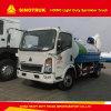HOWO 4X2 5000L 유조 트럭 회사 수출 또는 물 살포 트럭