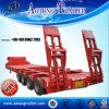 Reboque do caminhão de Lowbed de 4 eixos para a venda