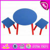 Kids、Children、Highquality Wooden Tableおよび2 Chairs Wo8g137のためのPopular Wooden Toy Table Setのための2015新しいWooden Table Set