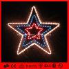 Lumière instantanée d'étoile de motif de la décoration LED de vacances de corde