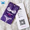 Hangtag de papel de la impresión del peso 250g de la cartulina para ropa de S de las mujeres