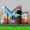 Cabinet d'exposition modulaire portatif de salon professionnel en aluminium à LED