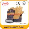Желтый Свинья кожа с промышленной безопасности работы зимой перчатки (22302)