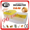 CE Approved Capacity 96 Chicken Eggs Full Automatic Home Thermostat para Incubator