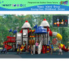 Outdoor Playground Slide with Outer Space Cartoon Parts (HA-07301)