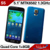 S5 Mtk6592W Octa 코어 이중 SIM 인조 인간 4.4 이동 전화