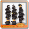 매끄러운 Natural Black 3A 인도 Remy Hair Extension