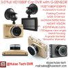 Nieuw Geval 3.0  Auto HD1080p DVR Chipset, de Camera van de Auto 5.0mega, de Controle van het Parkeren, H. 264 Auto dvr-3005 van Novatek Ntk96650 van de Camera van de Auto de Ingebouwde Volledige van de Huisvesting van de Legering van het Zink