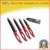 3  - 6  инструмента кухни отрезая керамический комплект ножа с красной ручкой